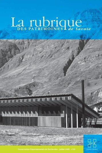 la rubrique 23 - Conseil Général de Savoie