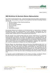 DKE Richtlinien für Bachelor-/Master-/Diplomarbeiten