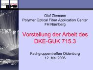 Vorstellung der Arbeit des DKE-GUK 715.3 - POF Application Center