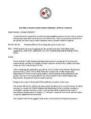 INSTRUCTIONS FOR NOISE PERMIT APPLICATIONS - Birmingham
