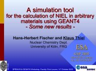 A Simulation Tool for the Calculation of NIEL in Arbitrary ... - SPENVIS