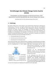 Einrichtungen des Climate Change Centre Austria (CCCA)