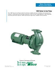 1600 Series In-Line Pump - Taco-Hvac