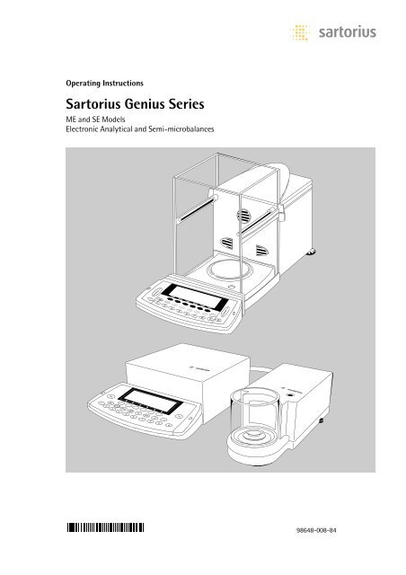 Sartorius Genius Series - Data Weighing Systems 0cd635ffe2b