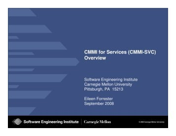 CMMI for Services (CMMI-SVC) Overview - NY SPIN