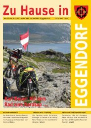 Mit dem Rad zum Nordkap Seite 27 - Gemeinde Eggendorf
