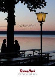neuer Katalog hier - Franz Herb