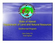 State of Hawaii Department of Land and Natural Resources