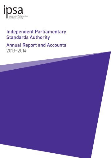 Annual Report and Accounts 2013 - 2014