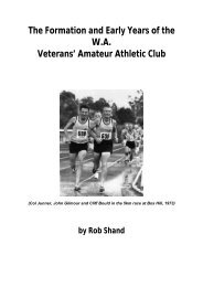 Rob Shand History of WAVAAC (1) - Masters Athletics W.A.