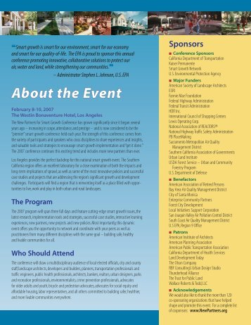 registration brochure 10/06 - New Partners for Smart Growth ...