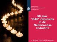 iTanks Live DIWCM 08-10-2014 - Rene van Dort - Inspectie SZW - Conclusies uit 50 jaar GAS explosies