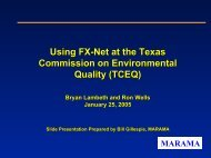 Using FX-Net at the Texas Commission on Environmental Quality