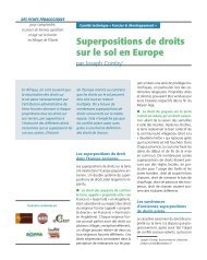 Superpositions de droits sur le sol en Europe