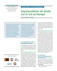 Superpositions de droits sur le sol en Europe