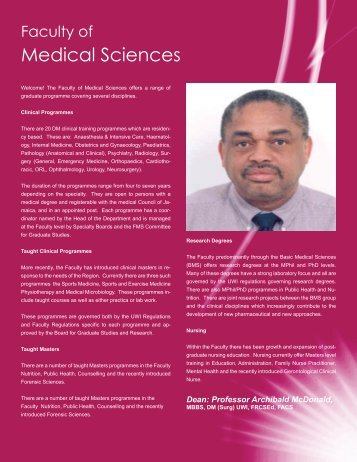 Medical Sciences - University of the West Indies