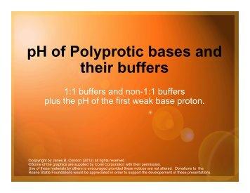 pH of Polyprotic base buffers