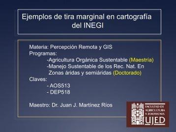 Ejemplo de tira marginal en carta INEGI - Juan Jose Martinez.com.mx