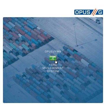 OPUS-YMS Flyer - OPUS G