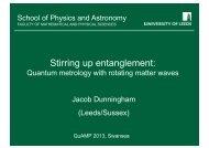 Stirring up Entanglement: Quantum Metrology with Rotating Matter ...