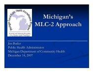 Michigan's MLC-2 Approach - Michigan Local Public Health ...