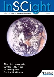 InSCIght Issue 01 - Faculty of Science - The University of Auckland
