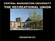 central washington university student union & recreation center