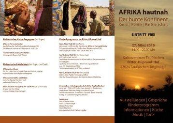 Afrikanischer Kultur begegnen (im Foyer)