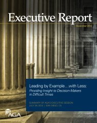 Executive Report: Leading by Example...with Less: Providing ... - AGA