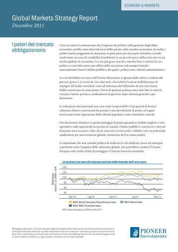 Global Markets Strategy Report - Pioneer Investments