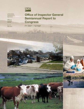 Message From the Inspector General - US Department of Agriculture