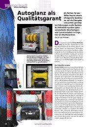 Autoglanz als Qualitätsgarant