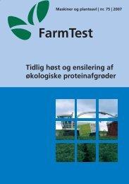 Tidlig høst og ensilering af økologiske proteinafgrøder - LandbrugsInfo