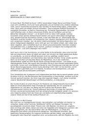 1 Michael Fehr KURATOR - KUSTOS BEMERKUNGEN ZU EINEM ...