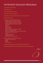 the pre-university intensive english program - AUK