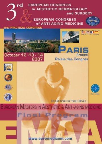 Anti-Aging Medicine Specialization - 6-day Seminar - EuroMediCom