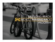 BIKE LONG BEACH BICYCLE PARKING RACK PROGRAM