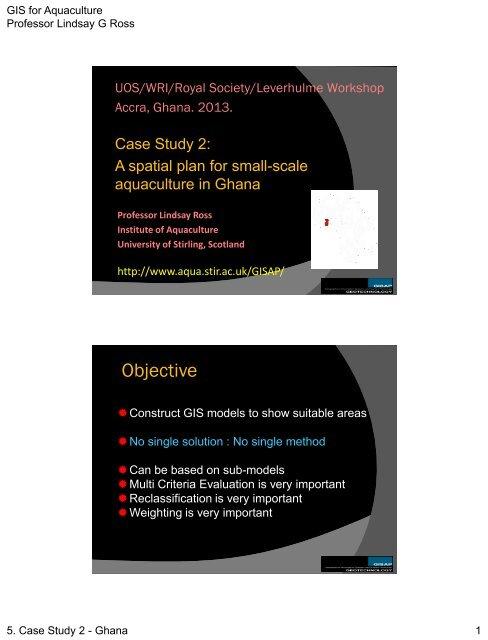 Ghana sub-model Case Study - Institute of Aquaculture - University ...