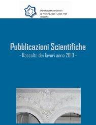 Pubblicazioni Scientifiche Anno 2010 - Azienda Ospedaliera Santi ...