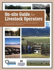 On-Site Guide for Livestock Operators - Montana Association of ...
