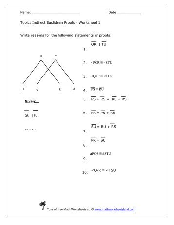 writing assignment two column proofs worksheet