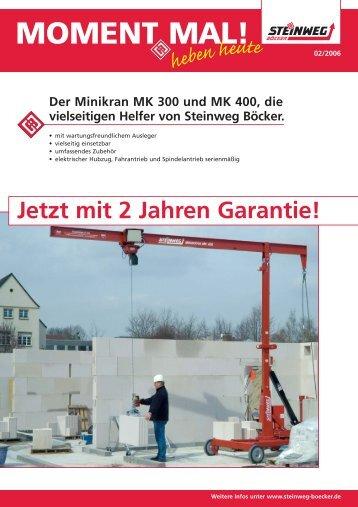 Minikran magazine for Uplifter preise