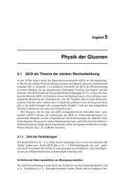 Kapitel 5 Physik der Gluonen 5.1 QCD als Theorie der starken - Desy