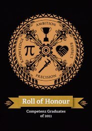Roll of Honour - Competenz