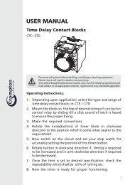 USER MANUAL Time Delay Contact Blocks CTE / CTD - Crompton ...