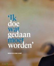 Interview met minister Henk Kamp - Verbond van Verzekeraars