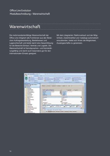 Modulbeschreibung Sage Office Line Warenwirtschaft - Abacus EDV ...