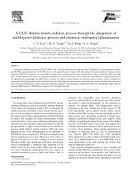 A ULSI shallow trench isolation process through the integration of ...