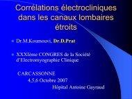 Corrélations électrocliniques dans les canaux lombaires étroits