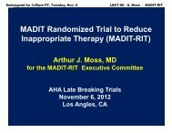 MADIT Randomized Trial to Reduce Inappropriate Therapy ... - 1